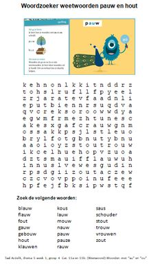 Practice words from the spelling program in Taal Actief Group Source by biancabmhmaes Learn Dutch, Busy Boxes, Color By Numbers, Home Schooling, Kids Learning, Circuit, Einstein, Homeschool, Classroom