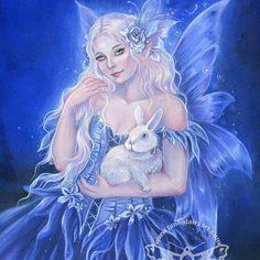 """Lorianna"" acrylic on watercolor paper. Adult Coloring, Coloring Books, Coloring Pages, Colouring Heaven, Instagram Widget, Illustrators On Instagram, 8th Of March, Fairy Art, Faeries"