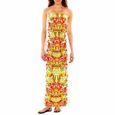 551c243a156d Bisou Bisou® Colorblock Floral Print Maxi Dress - jcpenney  40.00
