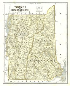Morses Rail Road And Township Map Of Vermont And NewHampshire - Map of vermont and new hampshire