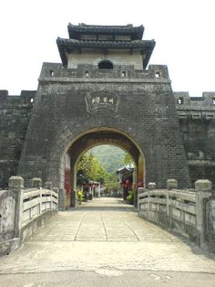 Ancient Chinese Gate; definitely a very old form of architecture