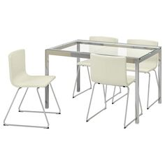 GLIVARP Extendable table - transparent, chrome-plated - IKEA Glass Table, A Table, Extendable Glass Dining Table, Polypropylene Plastic, Table Height, Chrome Plating, Keep It Cleaner, Cleaning Wipes