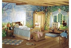 Most people would only love this as a kid's room, I'd love it as a bed room