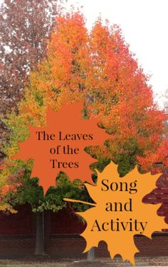 A fall themed song and activity perfect for preschoolers and from growingbookbybook.com #playfulpreschool
