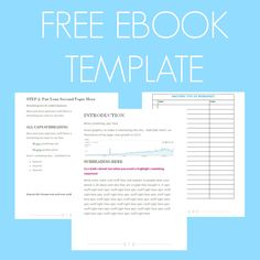 Free Ebook Template  Preformatted Word Document  Template Free