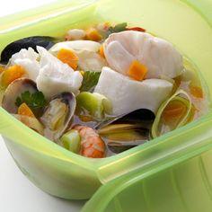 Sopa de pescado | Recetas microondas,Recetas de pescado,Recetas de verdura,Microondas | Recetas Lékué