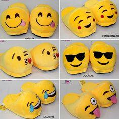 Ecco tutte le ciabattine emoji disponibili 😍😜😎😘💩😊😂😉 sono troppo simpatiche! Non fartele scappare, le quantità sono limitate 🏃💨🎁  Per acquistarle clicca qui: dream-shop.it/scarpe-donna.html#ciabatte