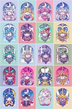 This collection is a series of Hello Kitty inspired Sailor Moon characters, containing Sailor the Inner and Outer Senshi, as well as certain pivotal