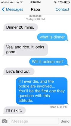 This risky dad… | 29 Parents Who Are Clearly Way Better At Texting Than Their Kids