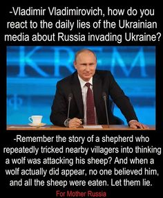 Vladimir Vladimirovish The Russian Bear:::Mr.  Putin is a one man dictator and the Antichrist is using Mr. Putin to rule with iron fists to the people Ukraine.( The prophet according with the bible)--World War lll--BEGAN--To the world and the United Nation 70 year back the world wash how five billion Jews were genocide and the world did not do nothing. Today in the world tomorrow HISTORY is repeating itself. Vladimir Vladimirovish is a one man's obsession with freedom and prosperity in a…