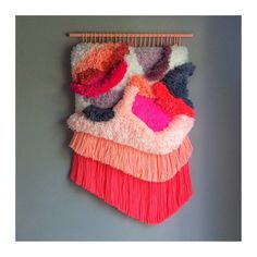 MADE TO ORDER  Woven wall hanging / Furry Landscape // door jujujust