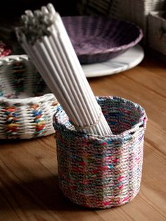 recycled paper baskets * BluReco