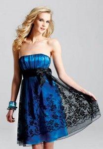 bridesmaid dress short royal blue and black 2 208x300 Short Royal Blue And Black Bridesmaid Dresses