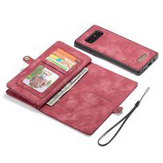 a959a5e014e CaseMe Samsung Galaxy Note 8 Zipper Flip Leather Wallet Case Red