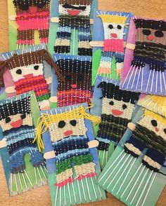2nd grade's woven portrait turned out adorbs but SHEW! It took forever and a day. 4 weeks. And many STILL aren't finished. Children Art Projects, Kids Art Lessons, Art Children, Projects For Adults, Weaving Kids, Weaving Projects, Weaving Art, Teaching Elementary Art, Art Projects Elementary