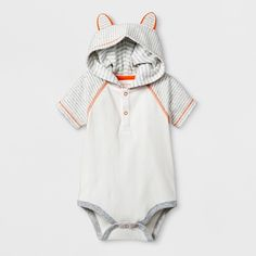 c4090a6f018 Baby Boys  Critter Hooded Short Sleeve Bodysuit with Joggers Set - Cat    Jack Gray Newborn