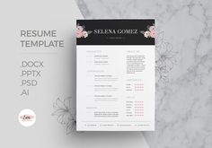 This professional resume will help you stand out ! The package includes a resume template and cover letter template in a pretty theme. This template is easy to Cover Letter Template, Letter Templates, Design Templates, Stationery Templates, Best Resume Template, Cv Template, Free Resume Examples, Business Card Logo, Business Resume