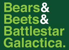 Bears, Beets, & Battlestar Galactica T-Shirt ($19.95)
