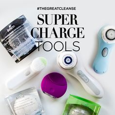 Recharge your skin with tools that amplify your cleansing routine. #Tools #Beauty #TheGreatCleanse