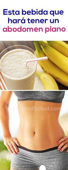 Bebidas para eliminar la grasa abdominal sin ejercicios y lograr un vientre plano rapido sin dieta.