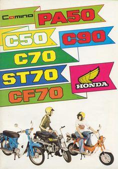 Honda Camino Mofa, C 50/70/90, CT70 / ST70 / CF70.