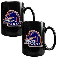 Boise State Broncos Black Coffee Cup Set