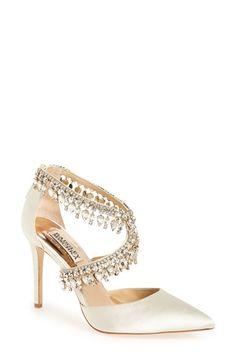 c71b5361b118b9 Badgley Mischka  Glamorous  Crystal-Embellished Pointy Toe Pump (Women)