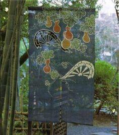 JAPANESE NOREEN | Vintage folk art style noren