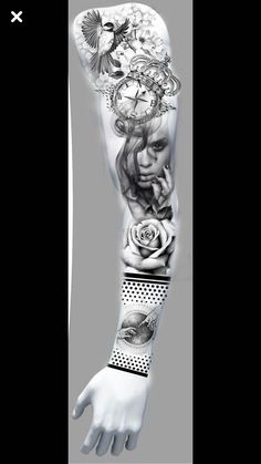 asd Half Sleeve Tattoos For Guys, Arm Sleeve Tattoos, Tattoo Sleeve Designs, Arm Band Tattoo, Badass Tattoos, Body Art Tattoos, Tattoo Drawings, Cool Tattoos, Full Hand Tattoo