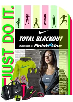 """Nike Total Blackout"" by designsbytraci on Polyvore"