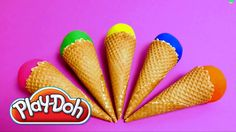 Play-Doh Surprise Egg Ice Cone - Hello Kittty, Dolphin, Minions  & Monst...