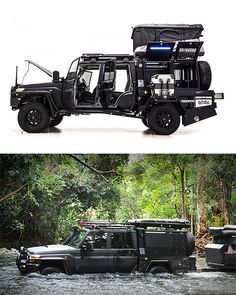 Patriot Campers Super Tourer - If you dream of jungle river crossings in Nicaragua, off-roading the Yukon, or just want to be the raddest dad at school drop-off, this hyper-custom battle wagon is what you need. Based on the new GXL Toyota Landcruiser Auto Camping, Motorcycle Camping, Camping Gear, Toyota Land Cruiser, Cool Trucks, Cool Cars, Kombi Trailer, Trailers, Offroader