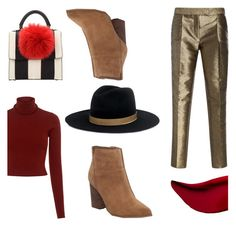 """""""Fall mini purse"""" by fashionspotter101 ❤ liked on Polyvore featuring Les Petits Joueurs, Elie Saab, A.L.C., Nine West, Janessa Leone and Kat Von D"""