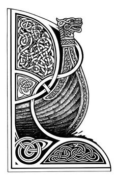 Celtic, ship, dragon head, boat, old norse Mehr