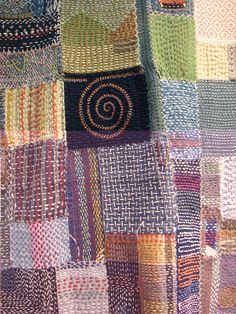 """I love the rustic repetitiveness of this type of embroidery used as a hand quilting stitch. It's called chikuchiku, also called """"crazy sashiko"""" ..."""
