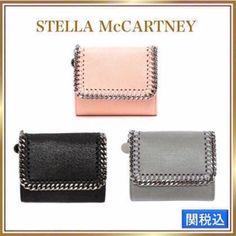 【国内即発】Stella McCartney シャギーディア 三つ折り財布 3色