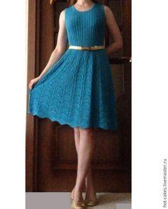 Купить Платье вязаное. - платье, вязаное платье, платье вязаное, спицами, лен, летнее платье