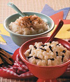 Canjica com cravo da índia; o arroz-doce com canela/rice pudding with cinnamon; hominy grits with cloves India.
