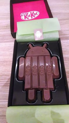 "Larry Page: ""Just opened the new Android release. KitKat!"" http://plus.google.com/u/0/106189723444098348646/posts/MtVcQaAi684"