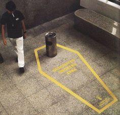 TOP: Einfache Umsetzung, sehr starke Botschaft! Vielleicht eine Anregung für die Deutsche Bahn. #Smoking