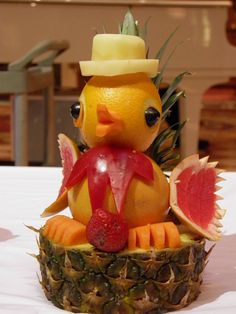 Fruit Carving Duck With A Top Hat by rabidscottsman, via Flickr