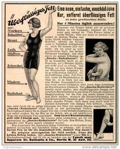 Original-Werbung/ Anzeige 1925 - SASCHA FETT - REDUZIERER / DR. BALLOWITZ BERLIN - ca. 100 x 120 mm