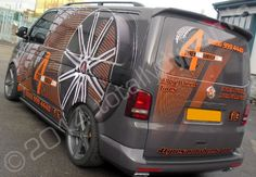 VW Transporter fully vinyl wrapped in a printed van wrap design by Totally Dynamic North London