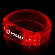 """Red 8"""" Light Up Bangle Bracelets"""