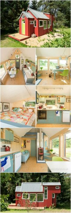 The Most Charming Tiny House in Scotland! You Have to See Inside Photos! Photos} Tiny House Scotland has designed and built an incredibly charming tiny house called the NestHouse and we can't enough of it! Ranging from 107 to feet, it has ev Small Rooms, Small Spaces, Small Space Design, Art Deco, Small Space Kitchen, Shed Homes, Craftsman House Plans, Little Houses, Tiny Houses