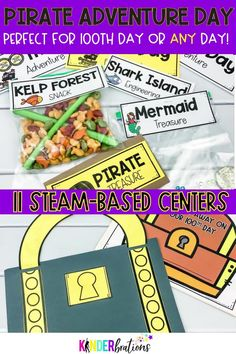 Ahoy Mateys! It's time to learn about the number 100 Pirate style! These pirate STEAM based centers and activities for your early elementary classroom work with numbers to 100. They can be used to celebrate the 100th day of school or ANY day that you want to have a pirate adventure. These activities are all pirate based and most are focused on counting, writing, and identifying numbers to 100. Perfect for your pre-k, kindergarten, and 1st grade classroom. Check it out!