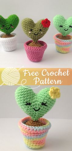 Mesmerizing Crochet an Amigurumi Rabbit Ideas. Lovely Crochet an Amigurumi Rabbit Ideas. Tutorial Amigurumi, Crochet Amigurumi Free Patterns, Crochet Flower Patterns, Sewing Patterns Free, Crochet Flowers, Crochet Ideas, Crochet Cactus Free Pattern, Crochet Hearts, Crochet Tutorials