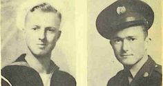 My Birth Father,(on left) and my Uncle (on right)....WWII Veterans