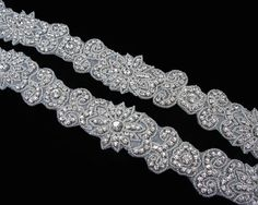 WONDERFUL CRYSTAL RHINESTONE APPLIQUE TRIM FOR SASH AND HEADBAND!!! Strongly Recommend Style,You can use it in many ways. Perfect for