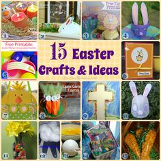 Collection of 15 Easter Crafts and Ideas Spring Crafts, Holiday Crafts, Holiday Fun, Easter Projects, Easter Crafts For Kids, Easter Decor, Easter Ideas, Hoppy Easter, Easter Bunny